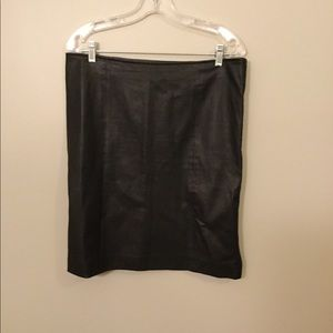 Joesph leather black pencil skirt